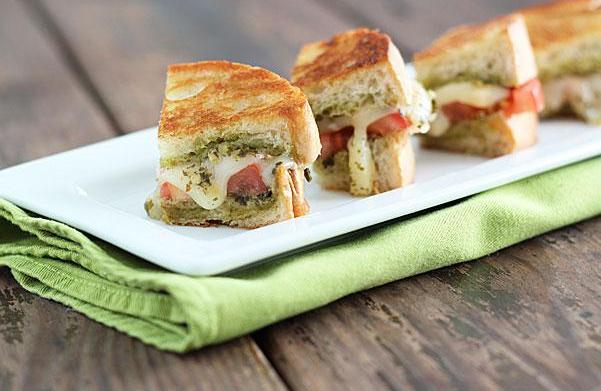 3 Loaded, bite-size grilled cheese sandwiches