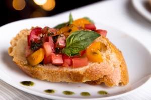 Garden Tomato Bruschetta