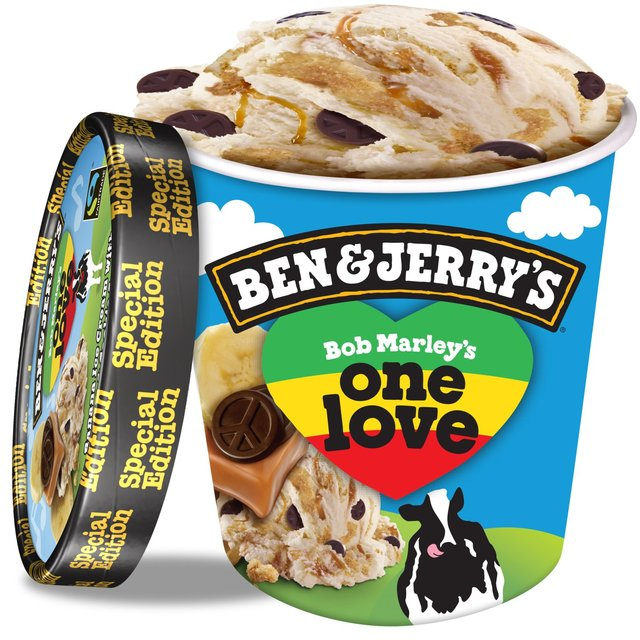 Celebrity ice creams: Bob Marley has his own ice cream, made from bananas, caramel, graham crackers, and fudge peace signs.