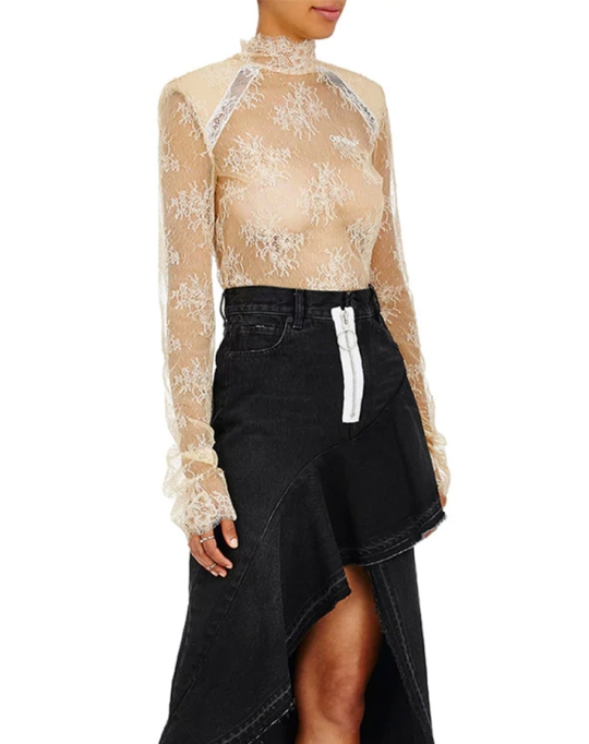 Fall fashion trends: Off-White C/O Virgil Abloh Lace Mock Turtleneck | Fall Fashion 2017