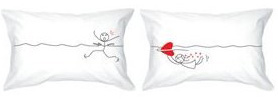 """Bold Loft """"My Heart is After You"""" Throw Pillows"""