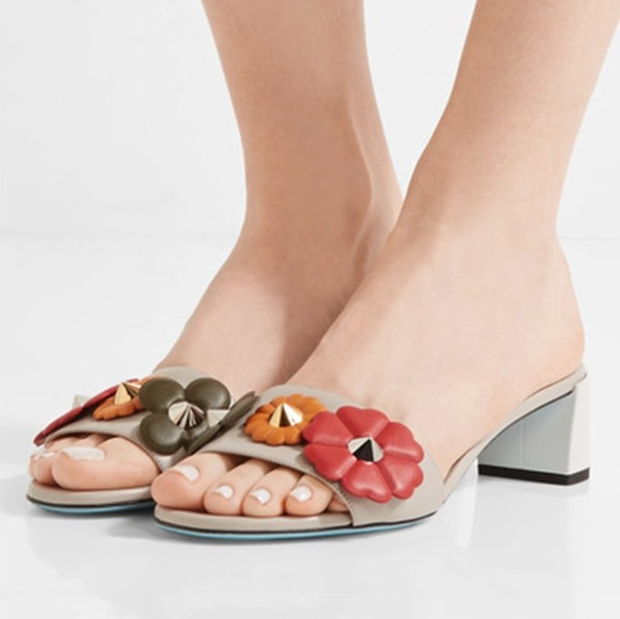 The Best Mule Shoe For Summer 2017: Fendi Embellished Leather Mules | Summer 2017 Accessories