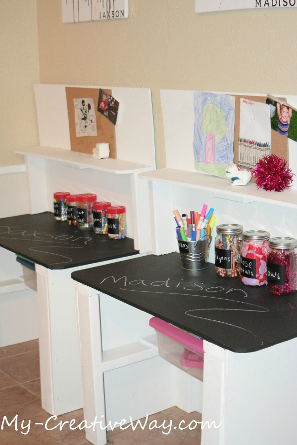 Chalkboard Tabletop Homework Stations