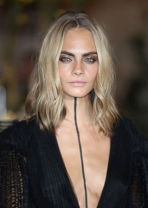 Dramatic Celebrity Hair Makeovers | Before: Cara Delevingne