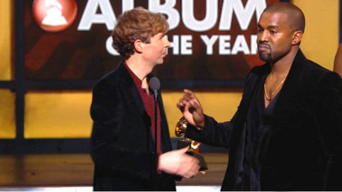 Kanye disses the Grammys, Beck and