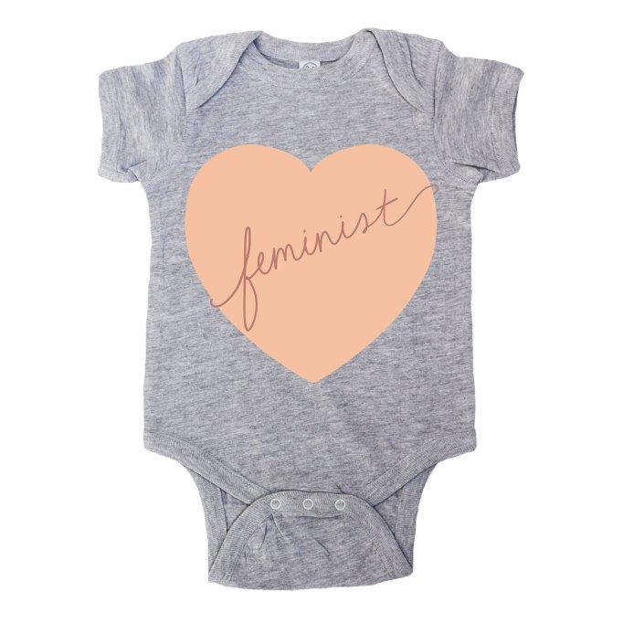 Feminist baby onesie