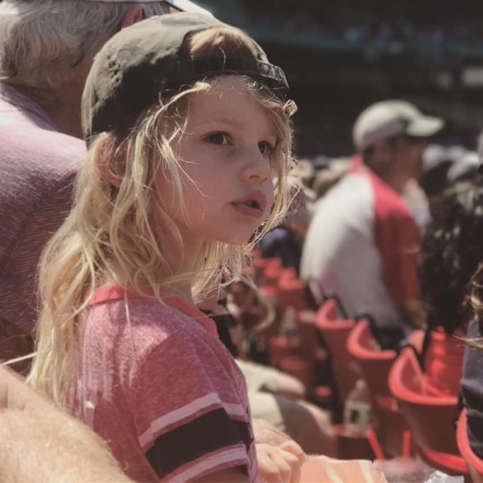 Jessica Simpson's family photos are totally beautiful: Ace watches a baseball game