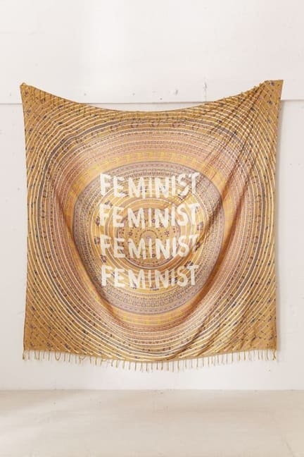 Affordable Dorm Decor Feminist Wall Tapestry