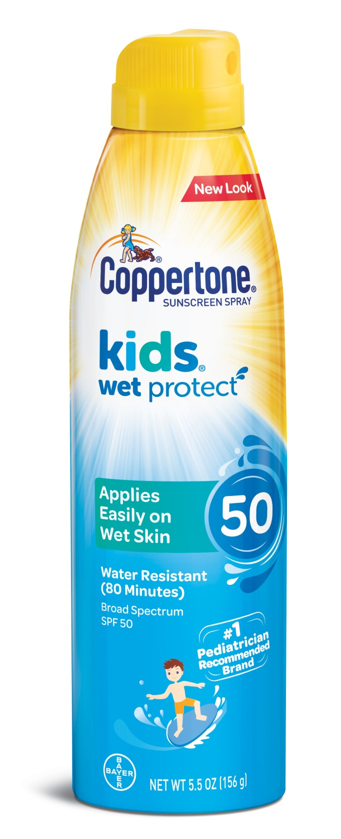 Coppertone Kids Wet Protect sunscreen spray, SPF 50