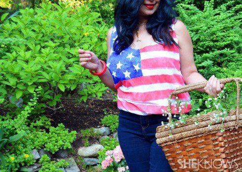 DIY American flag tank made from