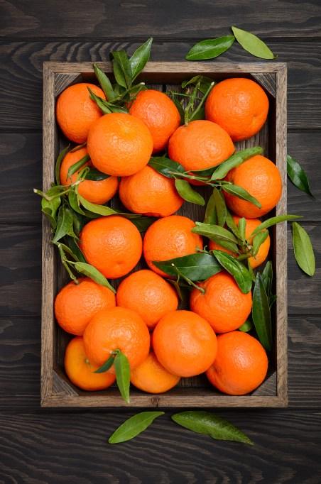 Box full of oranges