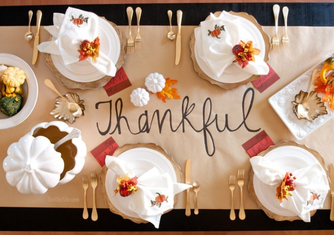Thankful Table Runner