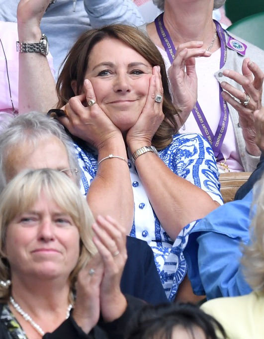 Check out these celebrities at the 2017 Wimbledon tournament: Carole Middleton