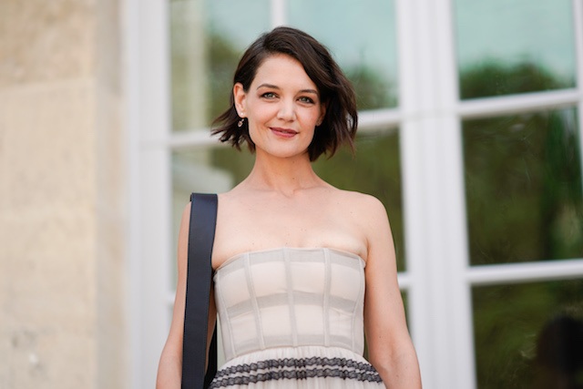 Katie Holmes attends the Dior show, during Paris Fashion Week Haute Couture Fall Winter 2018/2019