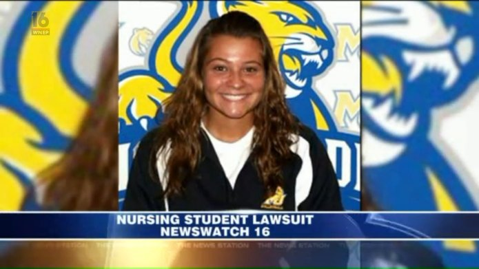 Nursing student sues college for failing