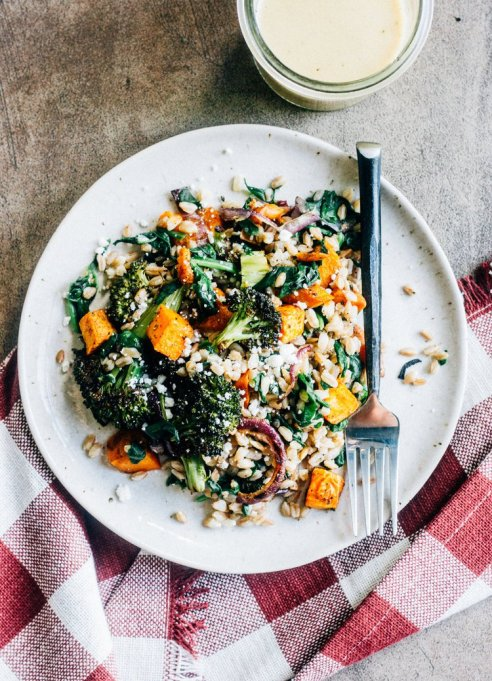 15 Healthy grain bowls to whip together: Autumn vegetable grain salad with cider mustard vinaigrette | Fall Eating 2017