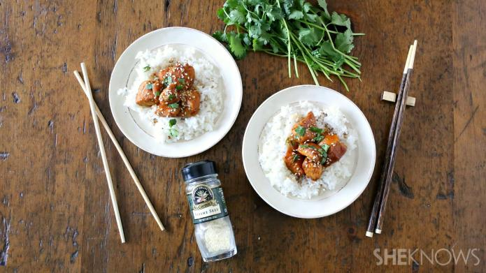 Easy skillet sesame chicken, like takeout