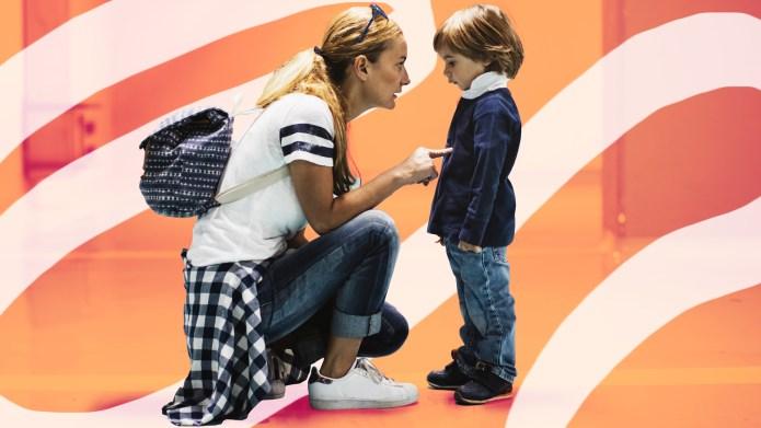 Mom Scolds Stubborn Kid - How