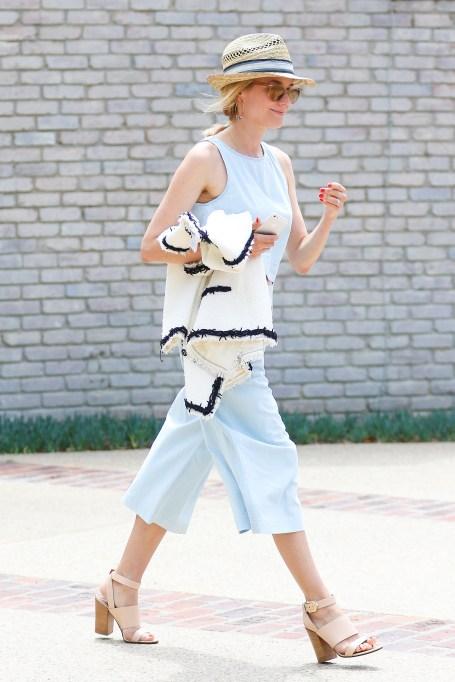 Diane Kruger wearing culottes