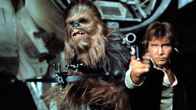 Chewbacca and Hans Solo in Star Wars