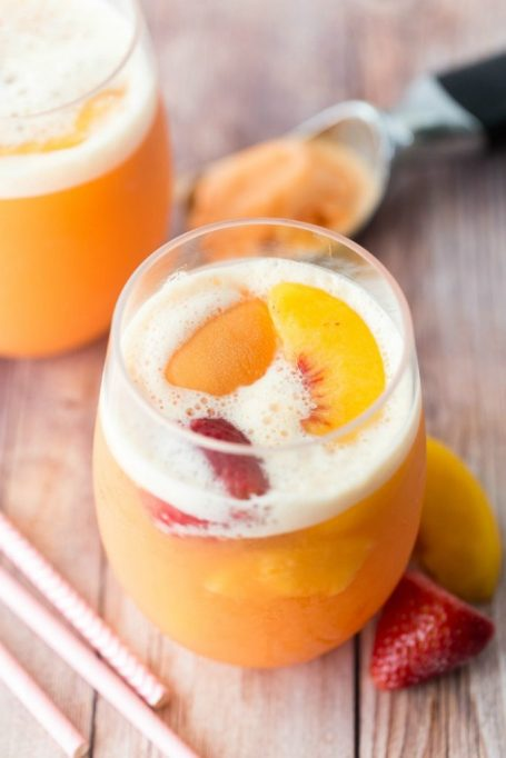 Strawberry Peach Ginger Ale Party Punch
