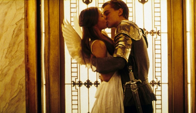Claire Danes and Leonardo DiCaprio in Rome and Juliet