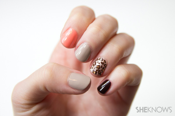 Mixed prints nail art