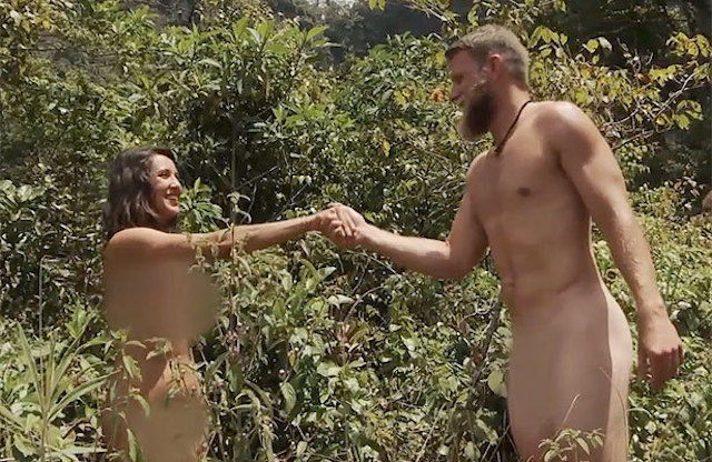 Naked and Afraid couple greet each other