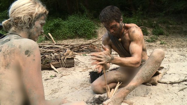 Naked and Afraid fire building