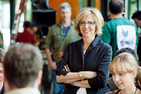 Nancy Meyers on the set of her It's Complicated, arriving in theaters December 25