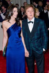Nancy Shevell and Paul McCartney