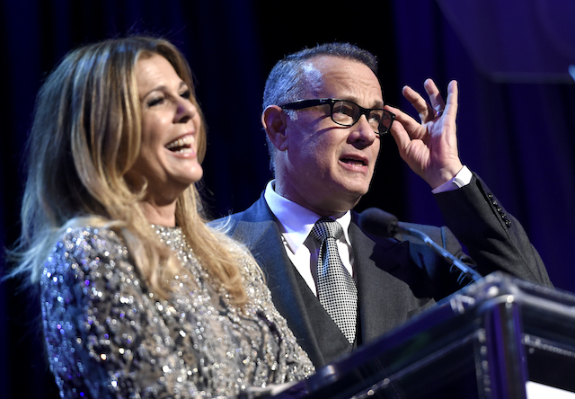 Rita Wilson and Tom Hanks at WCRF's 'An Unforgettable Evening' in 2017
