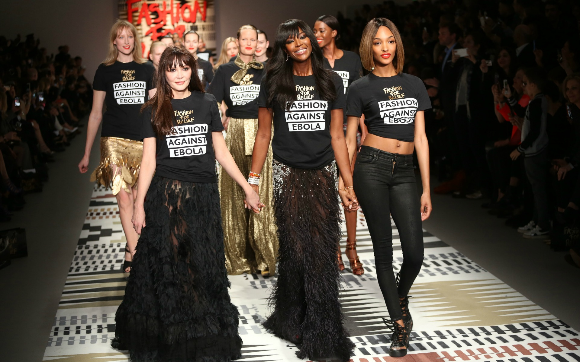 Naomi Campbell at Fashion for Relief