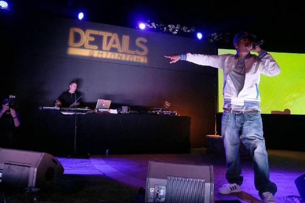 Nas performing at the Details party at Coachella 2013