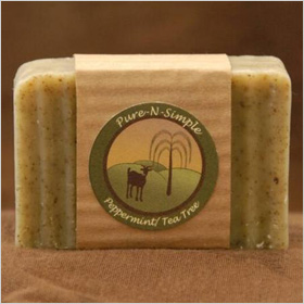 Pure N Simple Peppermint Tea Tree Soap