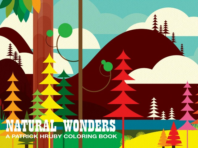 Natural Wonders colouring book