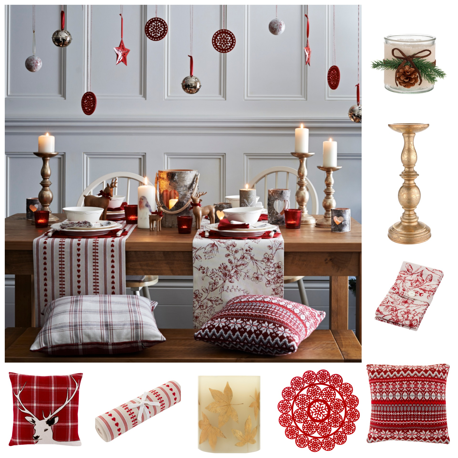 A stylish winter table setting will impress your dinner guests