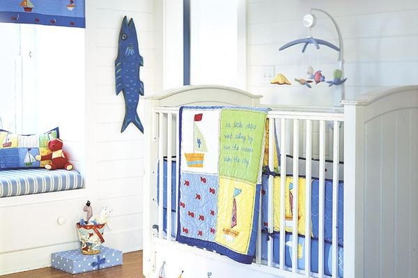 Nursery with nautical theme