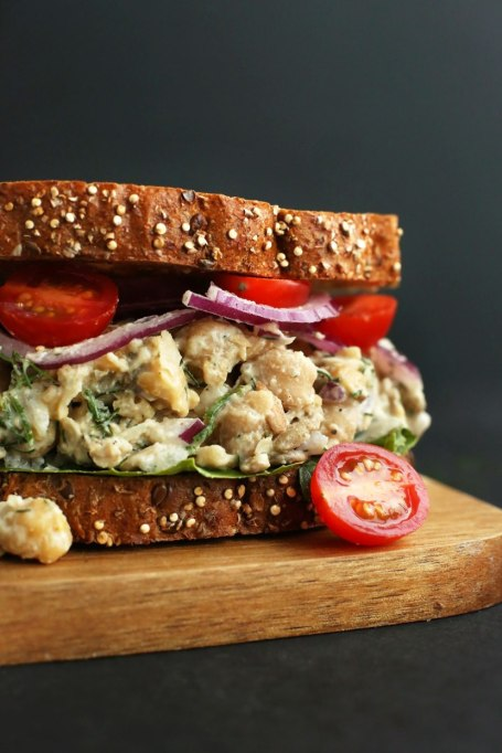 Sandwiches and Wraps for a Healthy Lunch | Chickpea Sunflower Sandwich