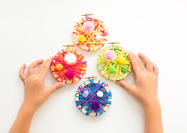 string art embroidery hoop ornaments