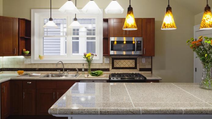 5 Surprisingly modern tiled countertops