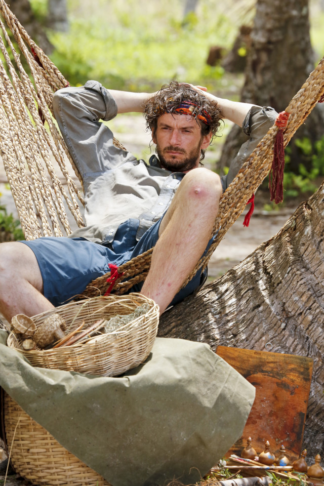 Neal Gottlieb relaxes at camp on Survivor: Kaoh Rong