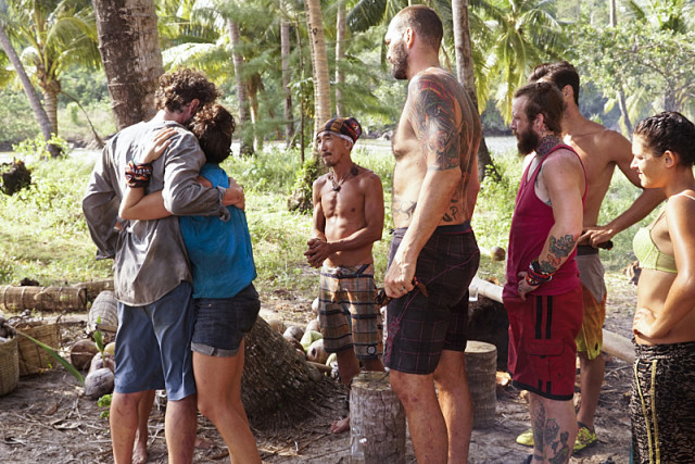 Neal Gottlieb gives goodbye hug to Aubry Bracco on Survivor: Kaoh Rong