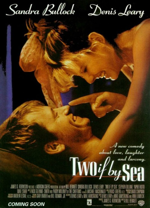 Sandra Bullock 'Two If by Sea' movie poster