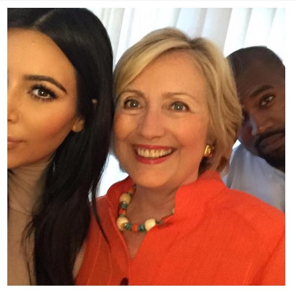 Kim Kardashian and Hillary Clinton