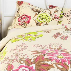 Neon Flowers Duvet Cover, urbanoutfitters.com, $89