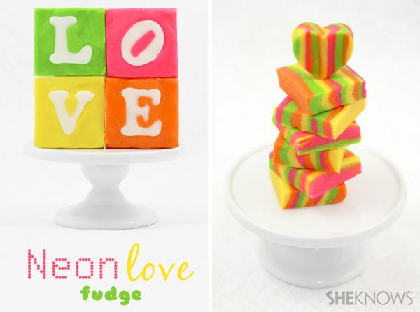 neon striped love fudge