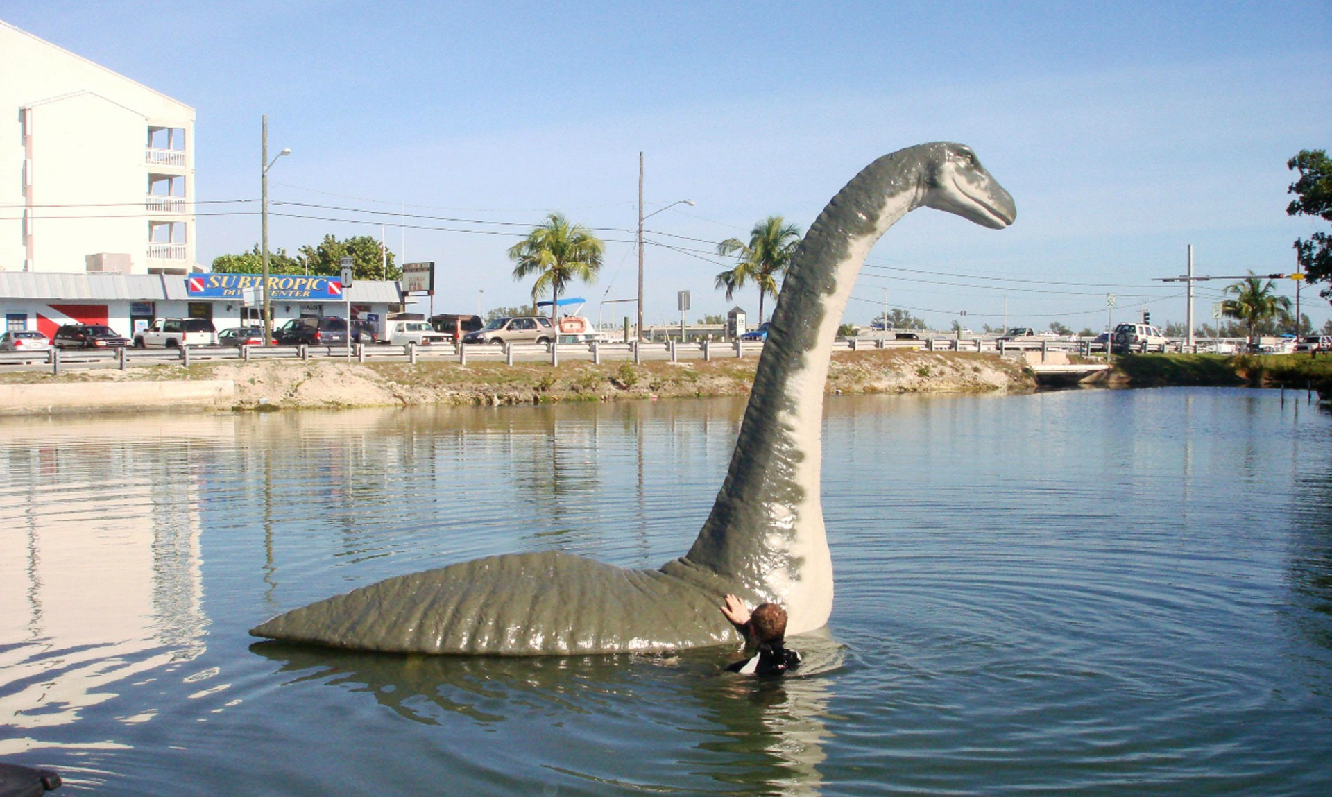 Loch Ness Monster sculpture in Florida, 2008
