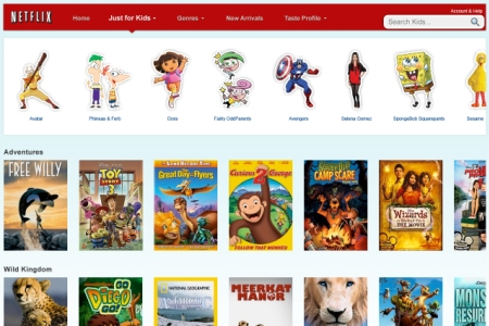 Netflix launches Just for Kids tab