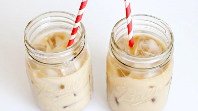 Jessa Duggar's cold brew coffee latte